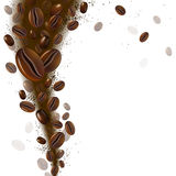 Coffee beans. Decorative background of coffee beans Royalty Free Stock Image