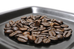 Coffee beans on dish Royalty Free Stock Photography