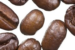 Coffee Beans Extreme Macro Royalty Free Stock Photography