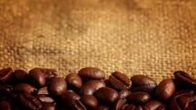 Coffee Beans Falling. Macro Royalty Free Stock Photos