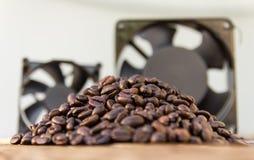 Coffee beans fan Stock Photo