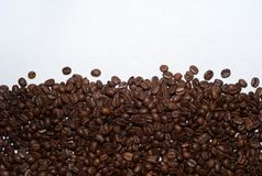 Roasted Coffee Beans with Copy Space stock images