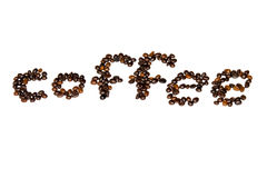 Coffee beans font Royalty Free Stock Photo