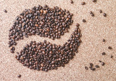 Coffee beans in the form of bean Stock Photos