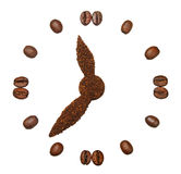Coffee beans in the form of hours Royalty Free Stock Photography