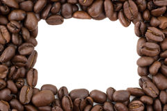 Coffee beans forming a border. Stock Photo