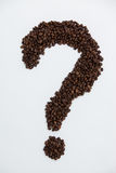 Coffee beans forming question mark Stock Image