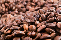 Coffee beans. Fragrant fried coffee beans, background coffee beans Stock Photo