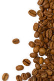 Coffee Beans Frame. Coffee beans isolated on white  background Royalty Free Stock Images