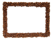 Coffee beans frame. Photo of the frame made of the coffee beans Stock Photo