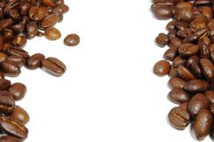 Coffee beans frame Stock Image