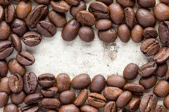 Coffee beans frame. Stock Image