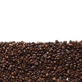 Coffee beans frame. With copy space, isolated on white background. Top view Royalty Free Stock Photo