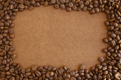 Coffee beans frame Stock Photos