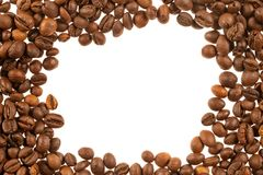 Coffee beans frame Royalty Free Stock Images