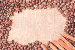 Coffee beans frame Royalty Free Stock Photos