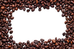 Coffee beans frame on white Stock Photo