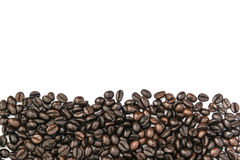 Coffee beans frame on white background Royalty Free Stock Photography
