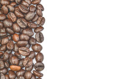 Coffee  beans  frame  on white background Stock Photography