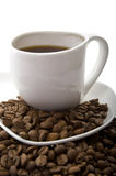 Coffee with Beans Stock Images