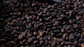 Coffee beans. Freshly roasted coffee beans from the peruvian coffee plantation Stock Photo