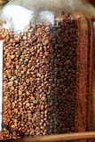 Coffee beans in glass container Stock Photo