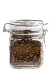 Coffee beans in glass jar Royalty Free Stock Photo
