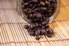 Coffee beans in a glass jar Royalty Free Stock Image