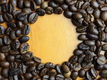 Coffee beans in the glass Royalty Free Stock Photography