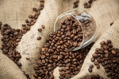 Coffee Beans in Glass Royalty Free Stock Photo
