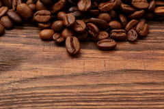 Coffee beans. Grains of coffee in the colors brown parched sun Stock Image