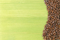 Coffee beans green table Stock Image