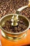 Coffee beans and grinder Royalty Free Stock Photos