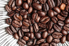 Coffee Beans and Ground Coffee Stock Photography