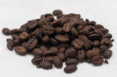 Coffee Beans. Group of raw coffee beans before being grinned Royalty Free Stock Images