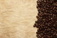 Coffee beans grunge background with copy space Royalty Free Stock Photo