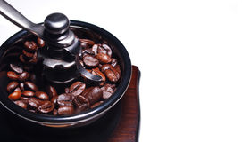 Coffee beans. Hand grinding Coffee bean machine and Coffee beans Stock Photography