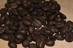 Coffee-beans. The handful of coffee beans Royalty Free Stock Photography