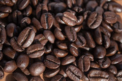 Coffee beans. A handful of royalty free stock images