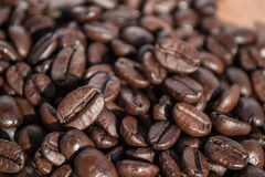 Coffee beans. A handful of stock image