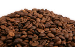 Coffee beans in a heap Stock Images