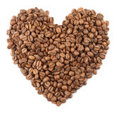 Coffee beans heart Stock Photos