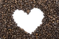 Coffee beans heart Royalty Free Stock Image