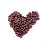 Coffee beans heart Royalty Free Stock Images