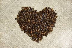 Coffee Beans Heart Royalty Free Stock Photography