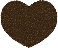 Coffee Beans Heart Background Illustration Royalty Free Stock Images