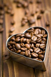Coffee beans in heart form Stock Image