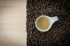 Coffee beans heart isolated Royalty Free Stock Image