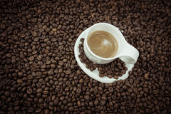Coffee beans heart isolated Royalty Free Stock Photography
