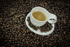 Coffee beans heart isolated Stock Images